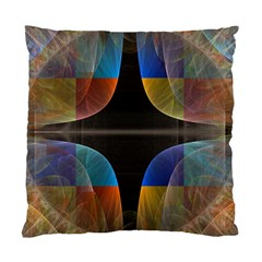 Black Cross With Color Map Fractal Image Of Black Cross With Color Map Standard Cushion Case (one Side)