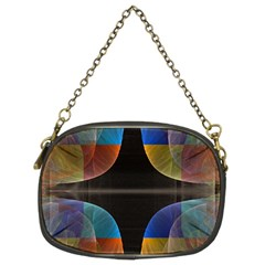 Black Cross With Color Map Fractal Image Of Black Cross With Color Map Chain Purses (two Sides)
