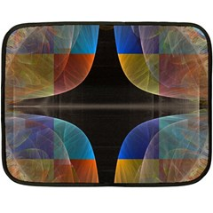 Black Cross With Color Map Fractal Image Of Black Cross With Color Map Double Sided Fleece Blanket (Mini)