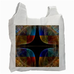 Black Cross With Color Map Fractal Image Of Black Cross With Color Map Recycle Bag (one Side)