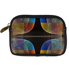 Black Cross With Color Map Fractal Image Of Black Cross With Color Map Digital Camera Cases