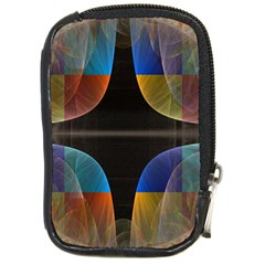 Black Cross With Color Map Fractal Image Of Black Cross With Color Map Compact Camera Cases