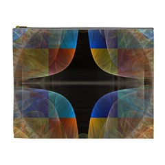 Black Cross With Color Map Fractal Image Of Black Cross With Color Map Cosmetic Bag (xl)