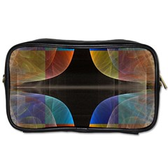 Black Cross With Color Map Fractal Image Of Black Cross With Color Map Toiletries Bags 2-Side