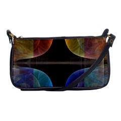 Black Cross With Color Map Fractal Image Of Black Cross With Color Map Shoulder Clutch Bags