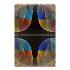 Black Cross With Color Map Fractal Image Of Black Cross With Color Map Shower Curtain 48  x 72  (Small)