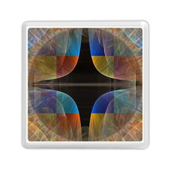 Black Cross With Color Map Fractal Image Of Black Cross With Color Map Memory Card Reader (Square)