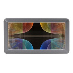 Black Cross With Color Map Fractal Image Of Black Cross With Color Map Memory Card Reader (mini)