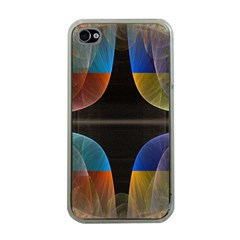 Black Cross With Color Map Fractal Image Of Black Cross With Color Map Apple iPhone 4 Case (Clear)