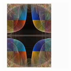 Black Cross With Color Map Fractal Image Of Black Cross With Color Map Small Garden Flag (two Sides)