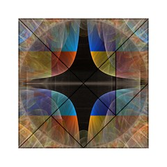 Black Cross With Color Map Fractal Image Of Black Cross With Color Map Acrylic Tangram Puzzle (6  x 6 )