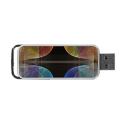 Black Cross With Color Map Fractal Image Of Black Cross With Color Map Portable USB Flash (One Side)