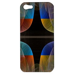 Black Cross With Color Map Fractal Image Of Black Cross With Color Map Apple Iphone 5 Hardshell Case