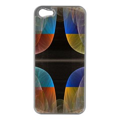 Black Cross With Color Map Fractal Image Of Black Cross With Color Map Apple Iphone 5 Case (silver)