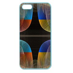 Black Cross With Color Map Fractal Image Of Black Cross With Color Map Apple Seamless Iphone 5 Case (color)