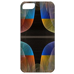 Black Cross With Color Map Fractal Image Of Black Cross With Color Map Apple Iphone 5 Classic Hardshell Case