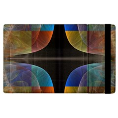 Black Cross With Color Map Fractal Image Of Black Cross With Color Map Apple iPad 3/4 Flip Case