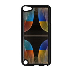 Black Cross With Color Map Fractal Image Of Black Cross With Color Map Apple Ipod Touch 5 Case (black)