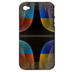 Black Cross With Color Map Fractal Image Of Black Cross With Color Map Apple Iphone 4/4s Hardshell Case (pc+silicone)