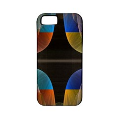 Black Cross With Color Map Fractal Image Of Black Cross With Color Map Apple Iphone 5 Classic Hardshell Case (pc+silicone)