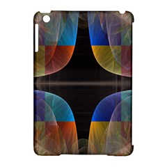 Black Cross With Color Map Fractal Image Of Black Cross With Color Map Apple Ipad Mini Hardshell Case (compatible With Smart Cover)