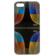 Black Cross With Color Map Fractal Image Of Black Cross With Color Map Apple Iphone 5 Hardshell Case With Stand