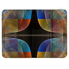 Black Cross With Color Map Fractal Image Of Black Cross With Color Map Samsung Galaxy Tab 7  P1000 Flip Case