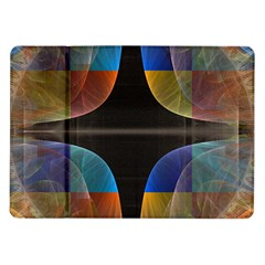 Black Cross With Color Map Fractal Image Of Black Cross With Color Map Samsung Galaxy Tab 10 1  P7500 Flip Case