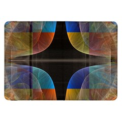 Black Cross With Color Map Fractal Image Of Black Cross With Color Map Samsung Galaxy Tab 8.9  P7300 Flip Case