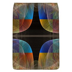 Black Cross With Color Map Fractal Image Of Black Cross With Color Map Flap Covers (L)