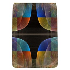 Black Cross With Color Map Fractal Image Of Black Cross With Color Map Flap Covers (s)