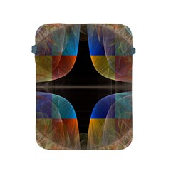 Black Cross With Color Map Fractal Image Of Black Cross With Color Map Apple Ipad 2/3/4 Protective Soft Cases