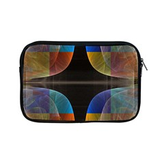 Black Cross With Color Map Fractal Image Of Black Cross With Color Map Apple Ipad Mini Zipper Cases