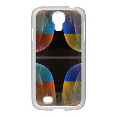 Black Cross With Color Map Fractal Image Of Black Cross With Color Map Samsung Galaxy S4 I9500/ I9505 Case (white)