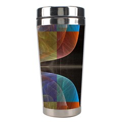 Black Cross With Color Map Fractal Image Of Black Cross With Color Map Stainless Steel Travel Tumblers