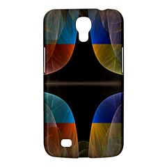 Black Cross With Color Map Fractal Image Of Black Cross With Color Map Samsung Galaxy Mega 6 3  I9200 Hardshell Case