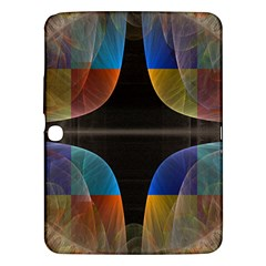 Black Cross With Color Map Fractal Image Of Black Cross With Color Map Samsung Galaxy Tab 3 (10 1 ) P5200 Hardshell Case