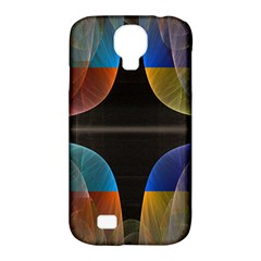 Black Cross With Color Map Fractal Image Of Black Cross With Color Map Samsung Galaxy S4 Classic Hardshell Case (PC+Silicone)