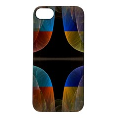 Black Cross With Color Map Fractal Image Of Black Cross With Color Map Apple Iphone 5s/ Se Hardshell Case