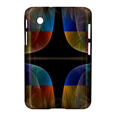 Black Cross With Color Map Fractal Image Of Black Cross With Color Map Samsung Galaxy Tab 2 (7 ) P3100 Hardshell Case