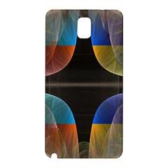 Black Cross With Color Map Fractal Image Of Black Cross With Color Map Samsung Galaxy Note 3 N9005 Hardshell Back Case