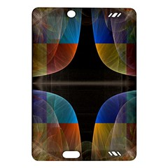 Black Cross With Color Map Fractal Image Of Black Cross With Color Map Amazon Kindle Fire Hd (2013) Hardshell Case