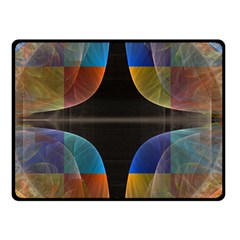 Black Cross With Color Map Fractal Image Of Black Cross With Color Map Double Sided Fleece Blanket (small)
