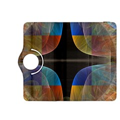 Black Cross With Color Map Fractal Image Of Black Cross With Color Map Kindle Fire HDX 8.9  Flip 360 Case