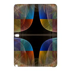 Black Cross With Color Map Fractal Image Of Black Cross With Color Map Samsung Galaxy Tab Pro 10.1 Hardshell Case