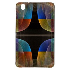 Black Cross With Color Map Fractal Image Of Black Cross With Color Map Samsung Galaxy Tab Pro 8 4 Hardshell Case