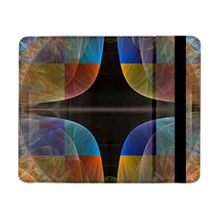 Black Cross With Color Map Fractal Image Of Black Cross With Color Map Samsung Galaxy Tab Pro 8 4  Flip Case
