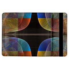 Black Cross With Color Map Fractal Image Of Black Cross With Color Map Ipad Air Flip
