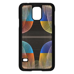 Black Cross With Color Map Fractal Image Of Black Cross With Color Map Samsung Galaxy S5 Case (Black)