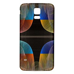 Black Cross With Color Map Fractal Image Of Black Cross With Color Map Samsung Galaxy S5 Back Case (white)